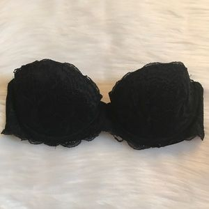 VS PINK DATE STRAPLESS BRA BLACK 32C
